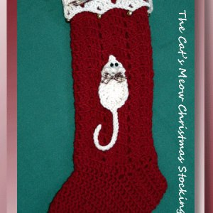 The Cat's Meow Christmas Stocking
