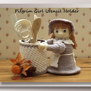 Pilgrim Girl Utensil Holder