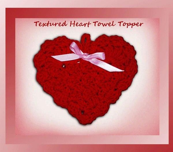 Textured Heart Towel Topper