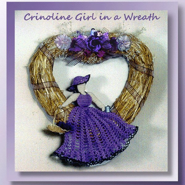 Crinoline Girl in a Wreath