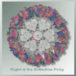 Flight of the Butterflies Doily