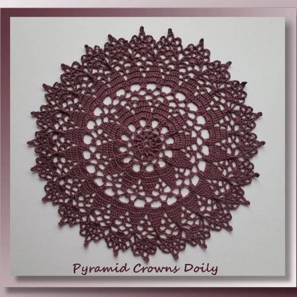 Pyramid Crowns Doily