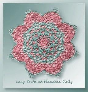 Lacy Textured Mandala Doily