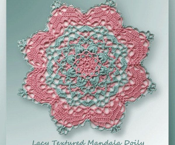 Lacy Textured Mandala Doily  <br /><br /><font color=