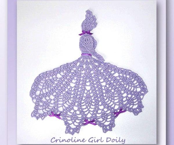 Crinoline Girl Doily    <br /><br /><font color=
