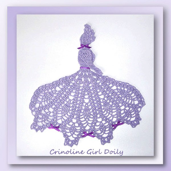 Crinoline Girl Doily - Crochet pattern for a pineapple crinoline girl doily