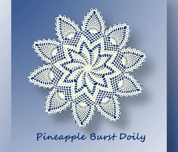 Pineapple Burst Doily    <br /><br /><font color=