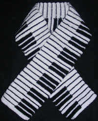 crochet piano-scarf