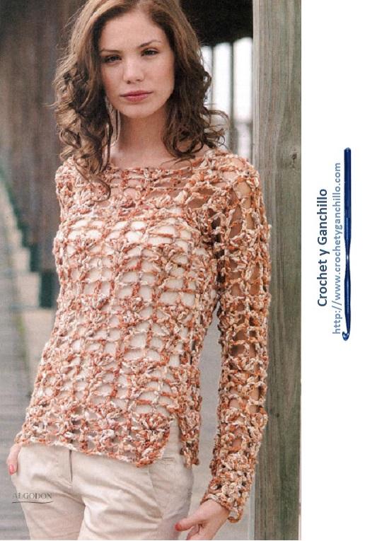 Blusas tejidas a crochet paso a paso