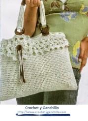 Bolsas de tejido.Un bolso con bastante glamour y sencillo