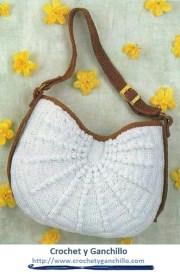 Bolsas tejidas. Un bolso a crochet muy práctico y bello.