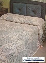 Colchas a crochet patrones. Una linda sobrecama tejida al crochet con hilo