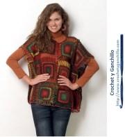 Ponchos para dama. Lindo y novedoso poncho a crochet ♣♣♣ Imperdible