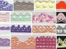 Colección de puntillas de crochet con sus esquemas