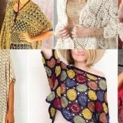 Colección ponchos y chales en crochet