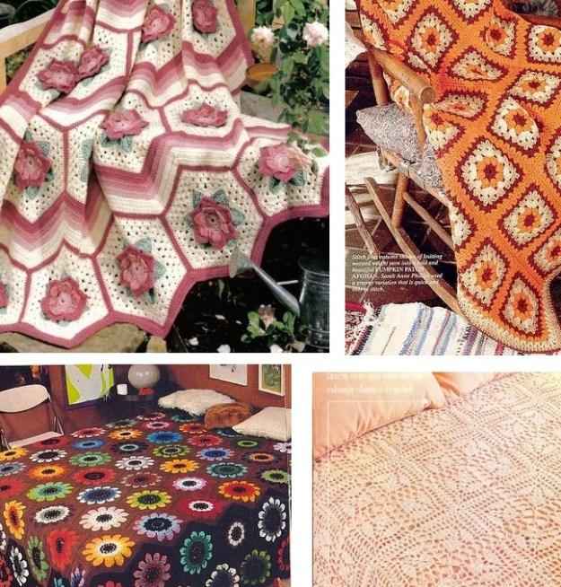 Esquemas gratis de crochet de colchas y mantas - Crochet y Ganchillo