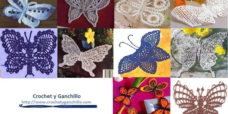 ▷ Mariposas en crochet con esquemas ✅ Imperdibles