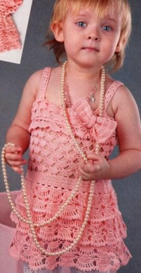 Vestido niña ganchillo esquemas