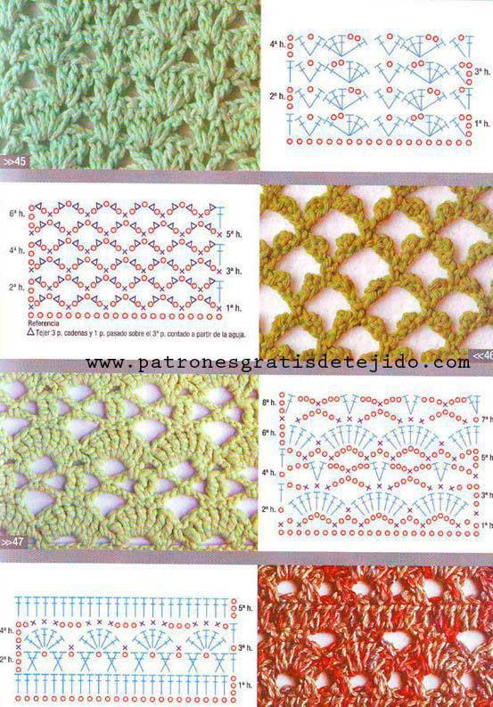 60 patrones de puntadas a crochet gratis - Crochet y Ganchillo