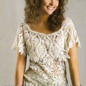 Blusa crochet con cuello patrones gratis