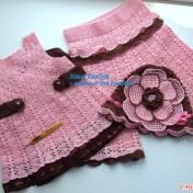 Conjunto crochet de niñas con esquemas