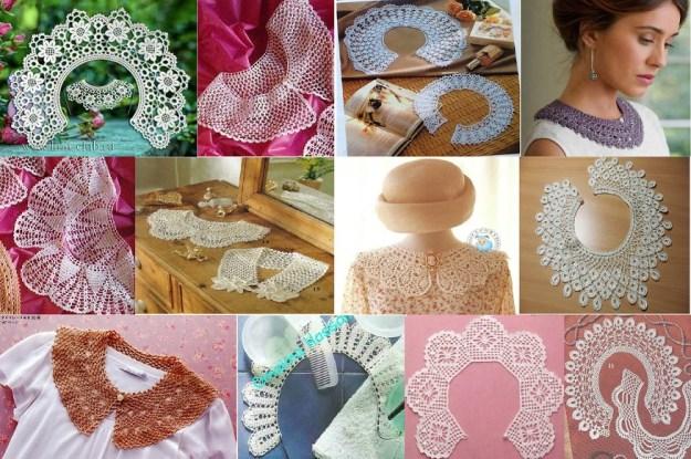Modelos con esquemas de cuellos en crochet