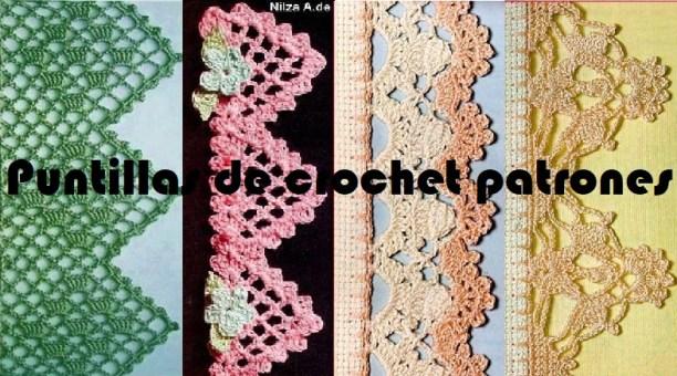 Puntillas de crochet patrones
