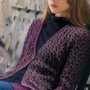 Chaleco crochet con mangas