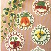 Adornos tejidos crochet para cocina