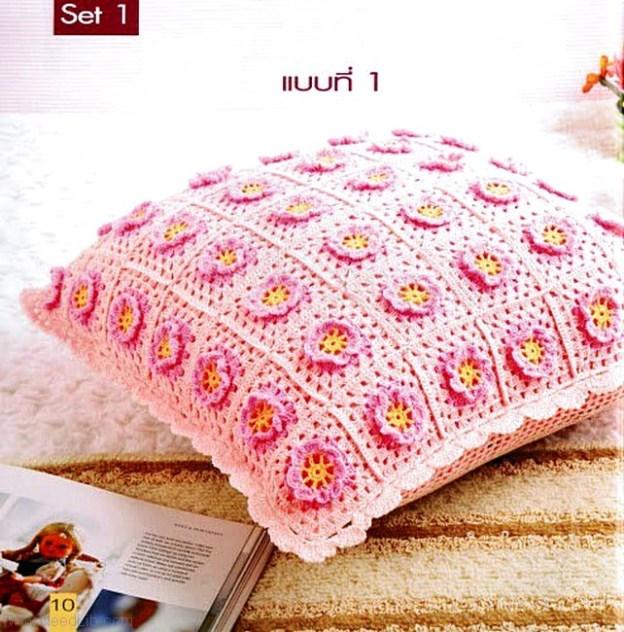 Cojínes tejidos al crochet