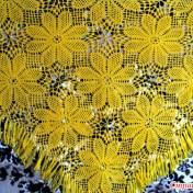 Chal triangular a crochet patrones