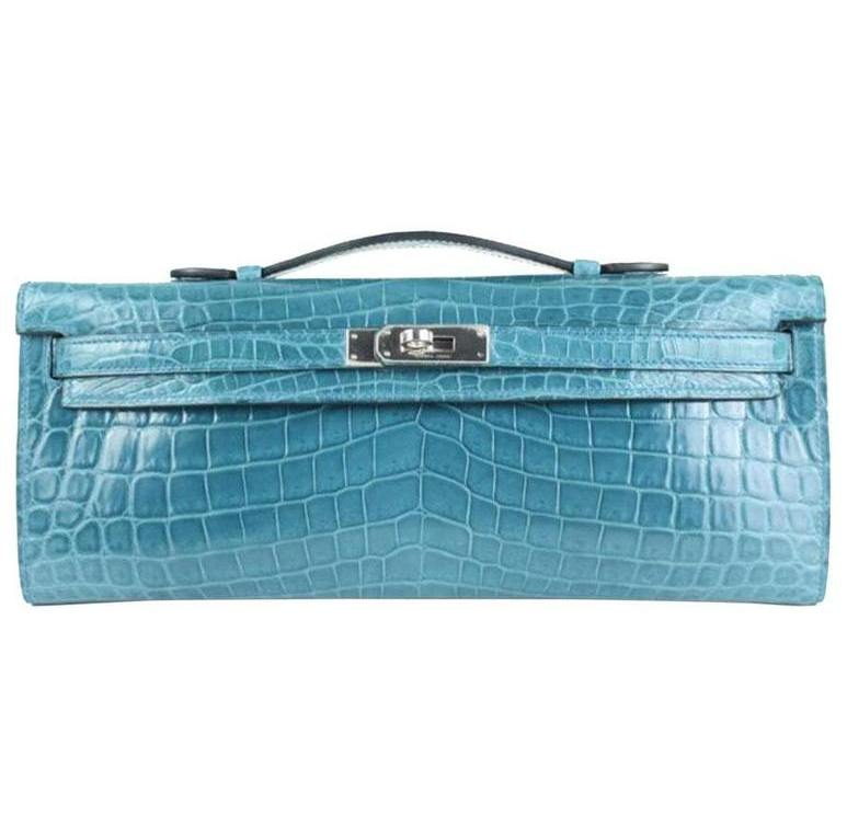 Kelly Crocodile Clutch Bag