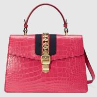 Sylvie Crocodile Top Handle Bag
