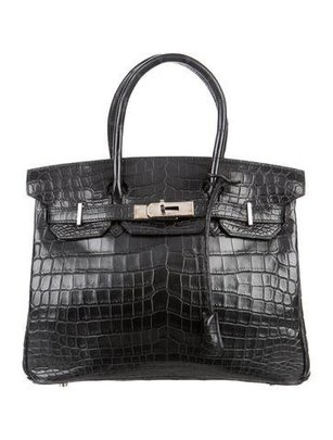 Crocodile Birkin Black