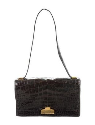 Vintage Crocodile Shoulder Bag