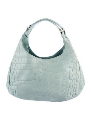 Bottega Veneta Crocodile Shoulde Bag