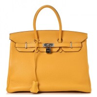 Birkin 35 Goatskin Leather Togo Soleil By Hermès