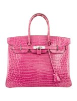 Crocodile Birkin 35 Bag Porosus Pink By Hermès