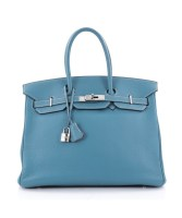 Birkin Handbag 35 Bicolor Clemence Pre-Owned By Hermès