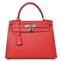 Kelly Bag 28 Hermes Epsom Sellier Rouge Casaque