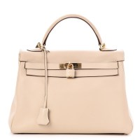 Kelly Bag 32 Hermes Swift Retourne Parchemin