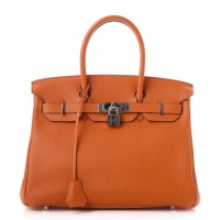 Birkin Bag 30 Hermès Togo Orange