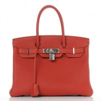 Birkin Bag 30 Vermillion Hermes Togo