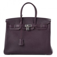 Birkin Bag 35 Hermès Togo Raisin
