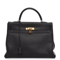 Kelly Bag 35 Hermes Togo Retourne Noir Black