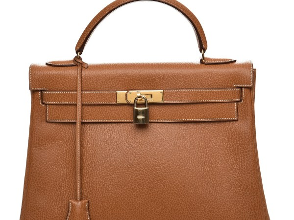 Kelly Bag 32 Gold Hermes Vintage