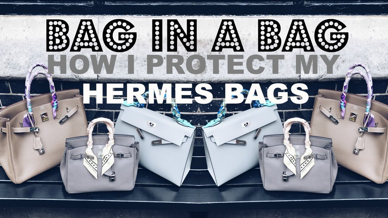 HOW I PROTECT MY HERMES (AND ALL MY) BAGS INSIDE | BAG IN A BAG ORGANISER | IAM CHOUQUETTE