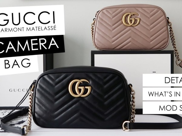 Updated 2018! Gucci Marmont Camera Bag Small Size - Details, What's in my Bag & Mod Shots!