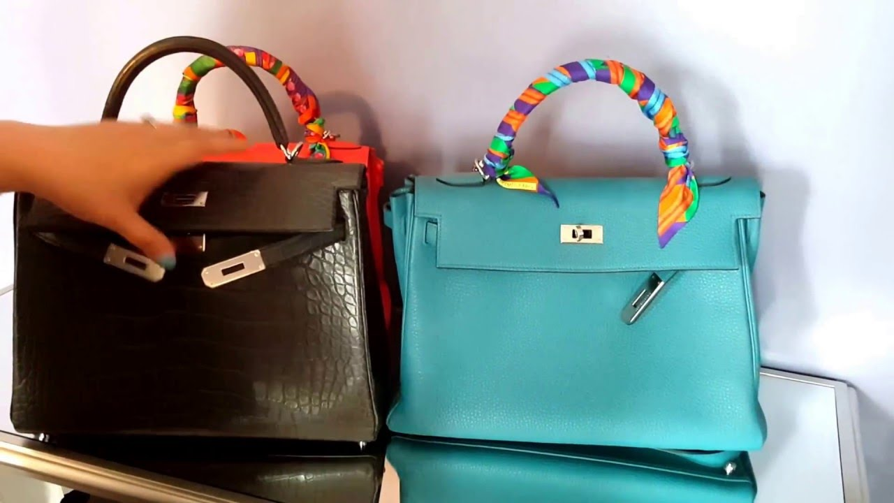 Comparing Hermes Kelly Bags 28cm and 32cm