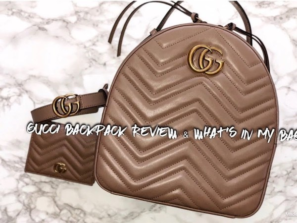 Gucci Marmont Backpack Review & What's In My Bag?